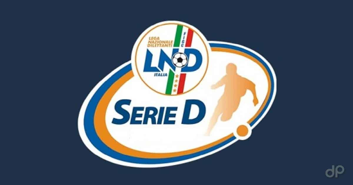 Logo Serie D sfondo blu scuro