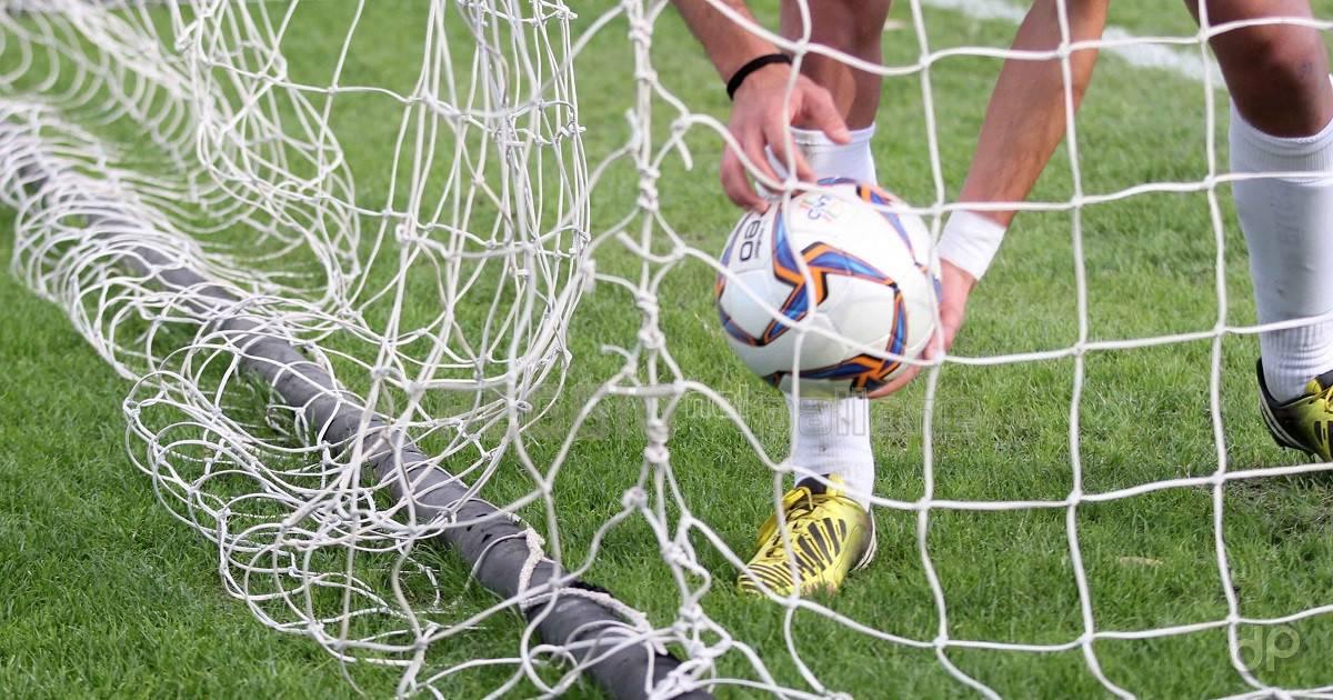 Pallone in rete raccolto