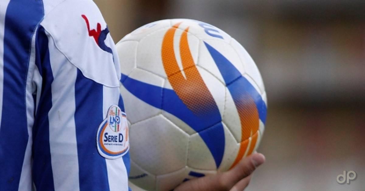 Particolare di un pallone di Serie D