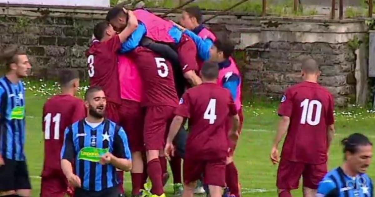 Esultanza Albalonga dopo un gol