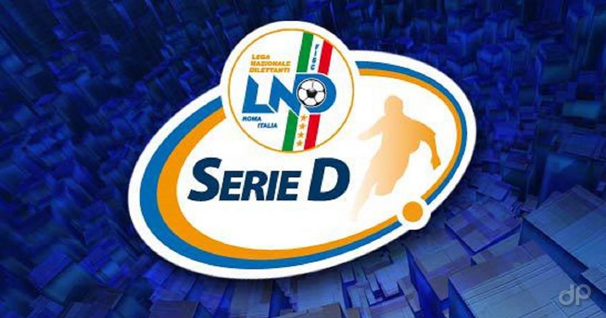 Logo Serie D su sfondo blu