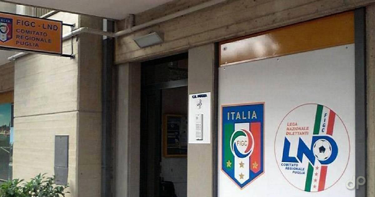La sede regionale della Lnd Puglia