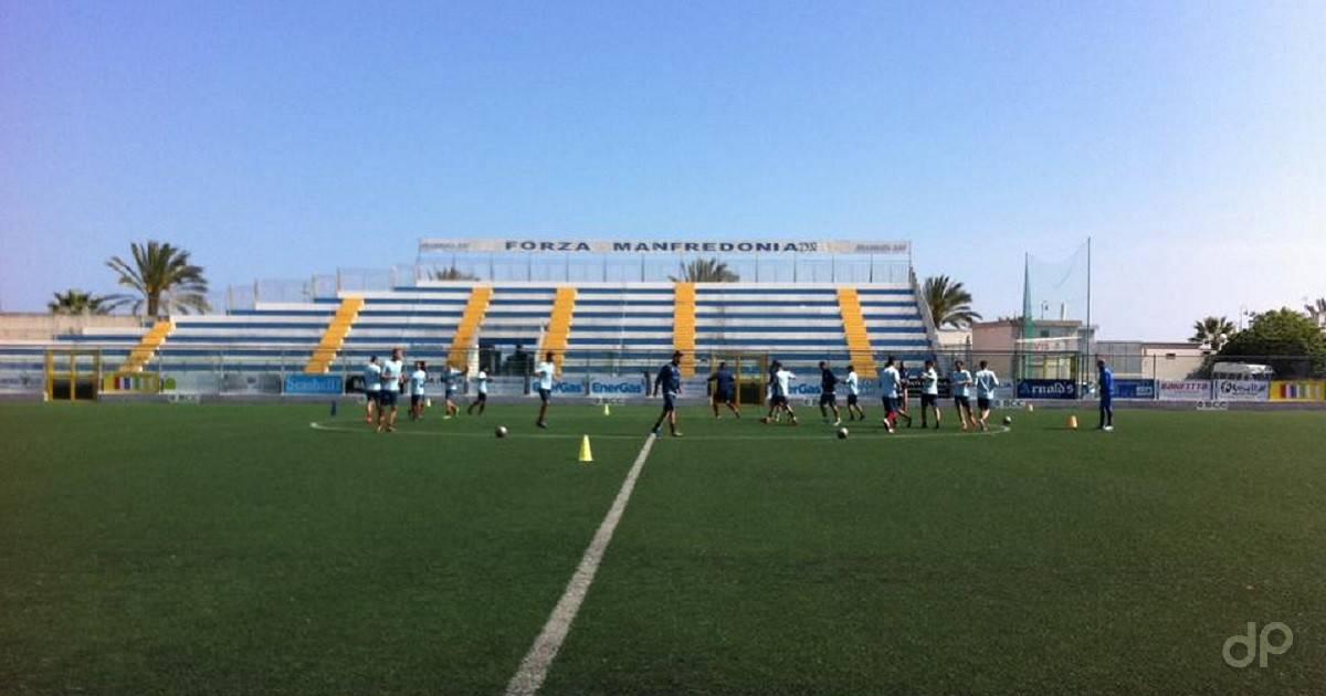 Il Manfredonia durante un allenamento al