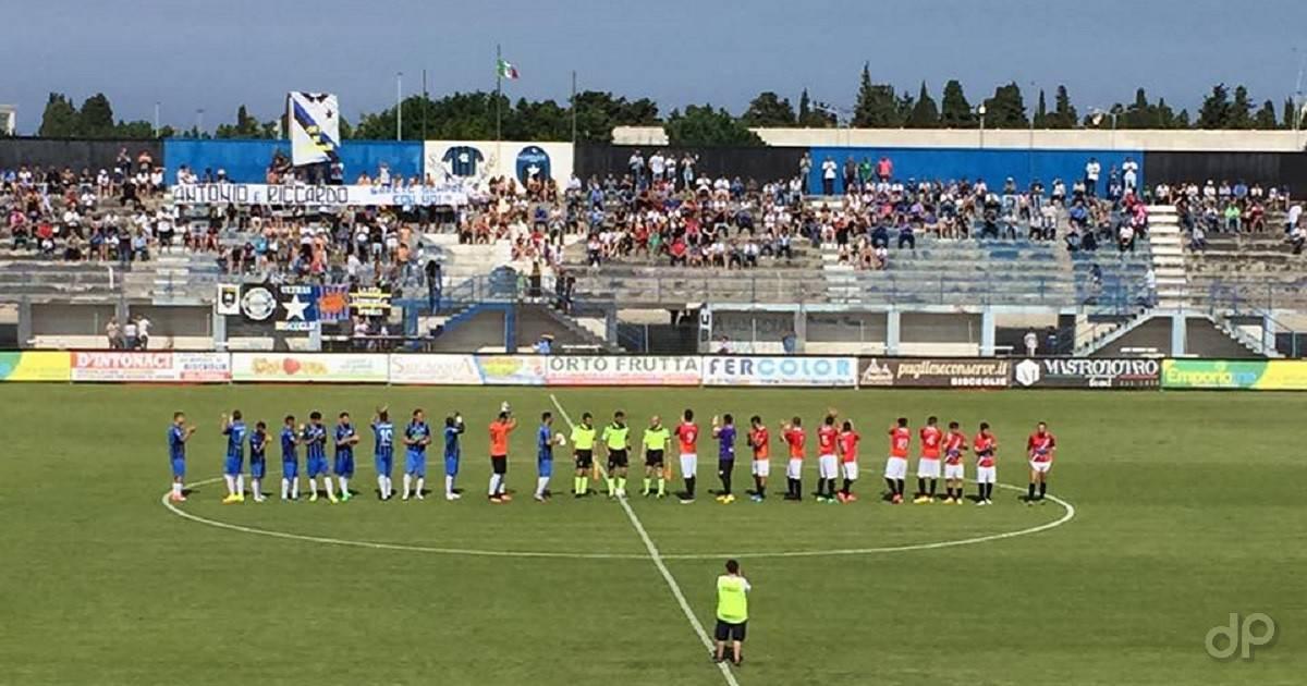 Poule scudetto 2017, fischio d'inizio della partita tra Bisceglie e Sicula Leonzio 2017