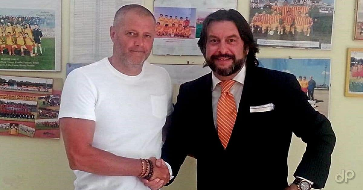 Angelo Columbo e Fabio Montecalvo, allenatoree vicepresidente Maglie 2017