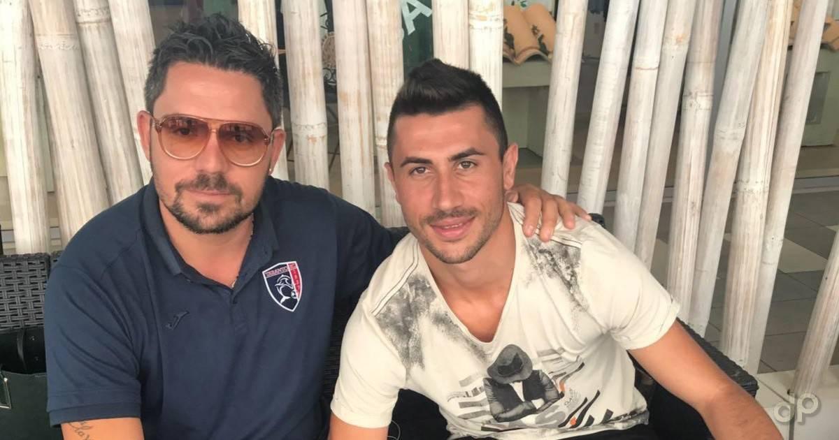 Antonio Crucitti e il direttore sportivo Luigi Volume Taranto 2017