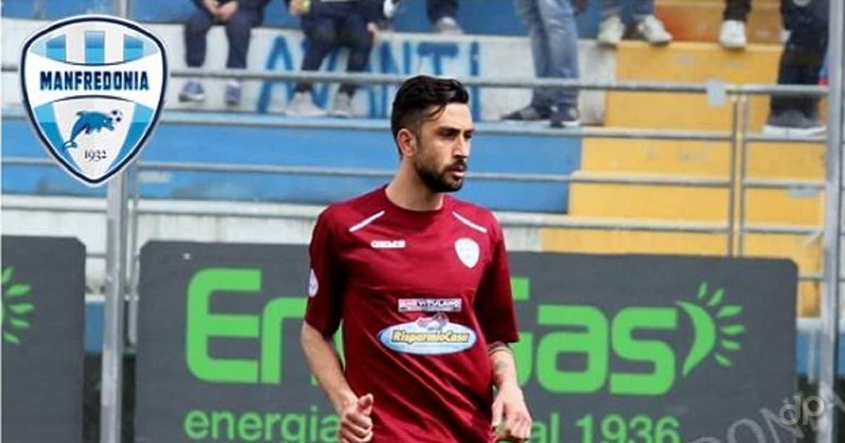 Manuel Vergori con la maglia del Manfredonia 2017