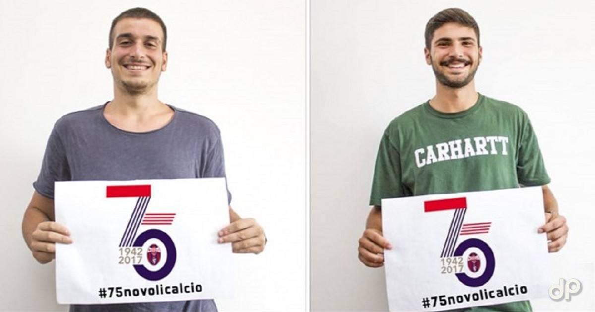 Matte Nacci e Christian Petracca con la maglia del Novoli 2017