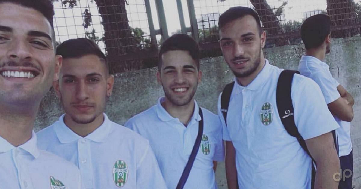 Cosimo Scarano (il secondo da sinistra) al Talsano 2016