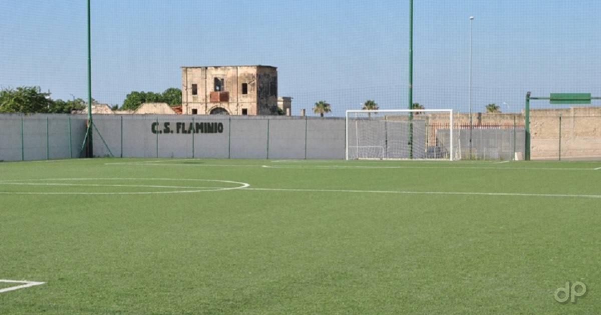 Uno dei campi del centro sportivo Flaminio di Bari