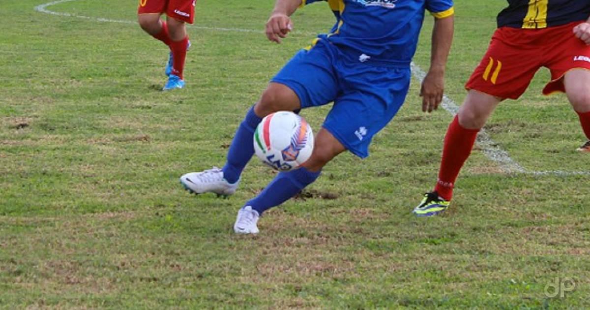 Dilettanti pallone maglia blu