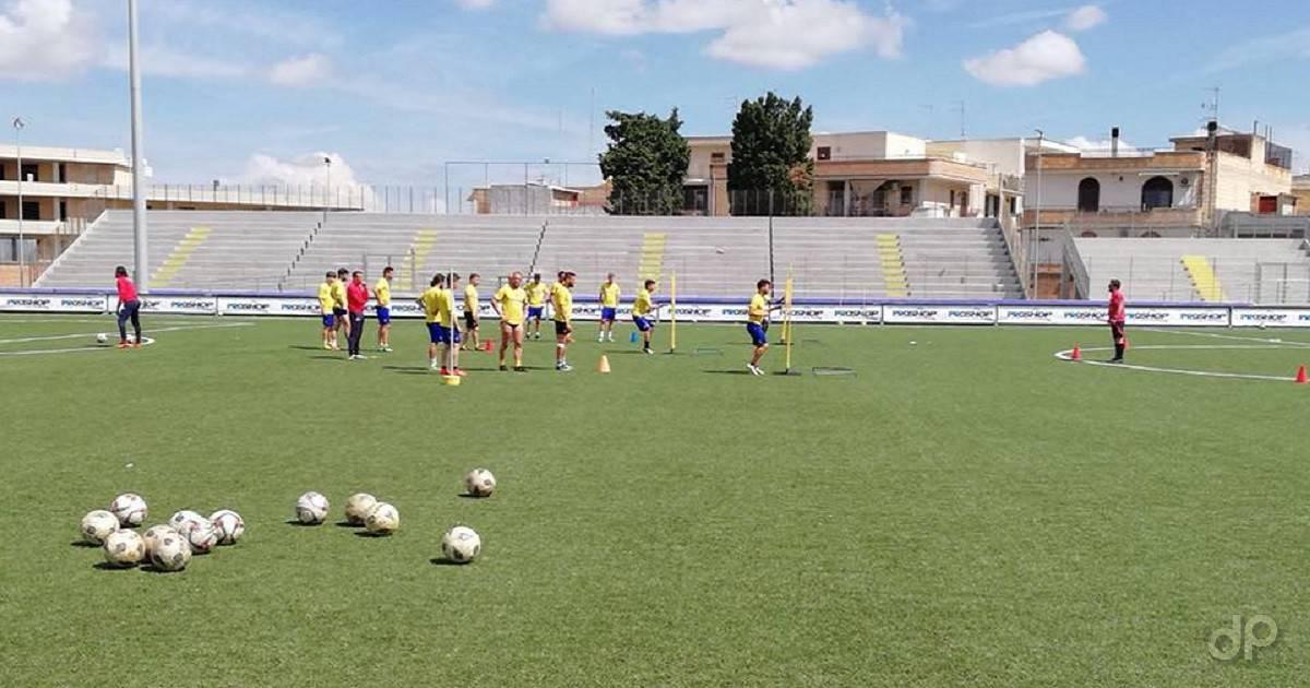Audace Cerignola allenamenti 2018