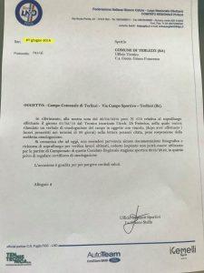 Il documento della Figc presentato dal presidente del Terlizzi