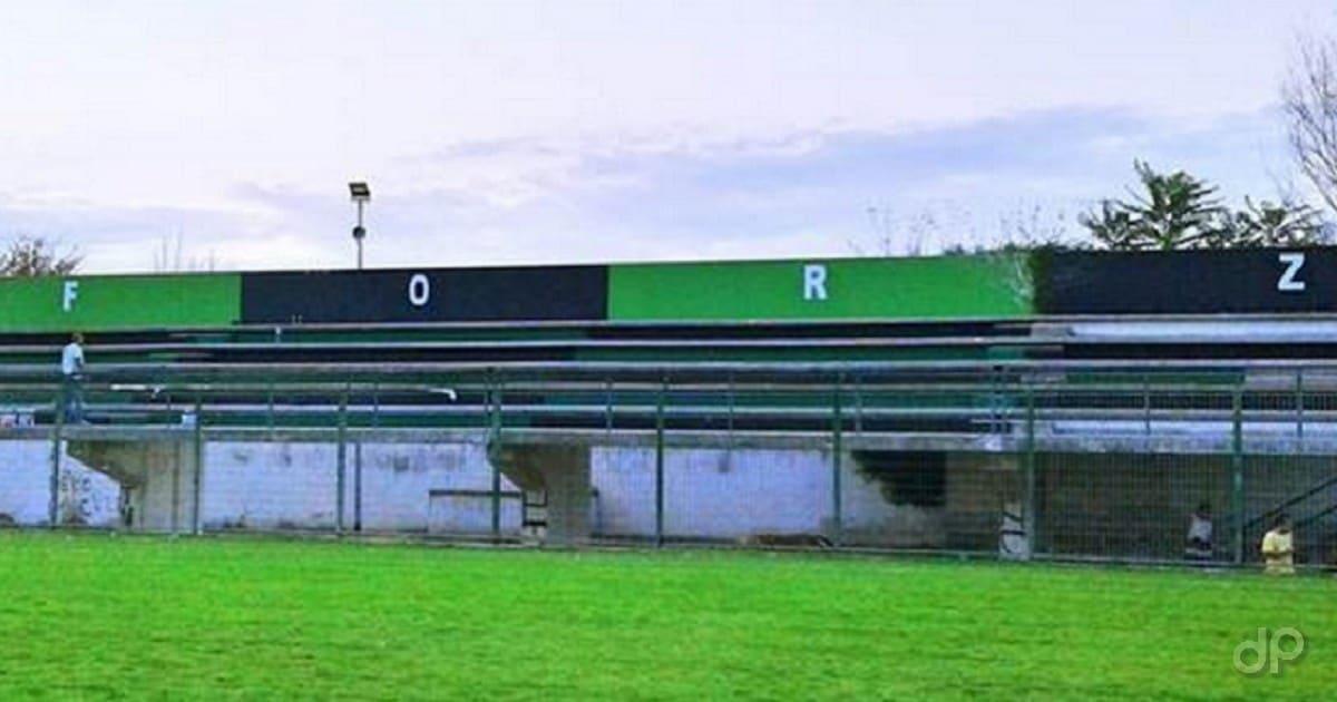 """Un dettaglio dello stadio """"Degli Ulivi"""" di Bitonto"""