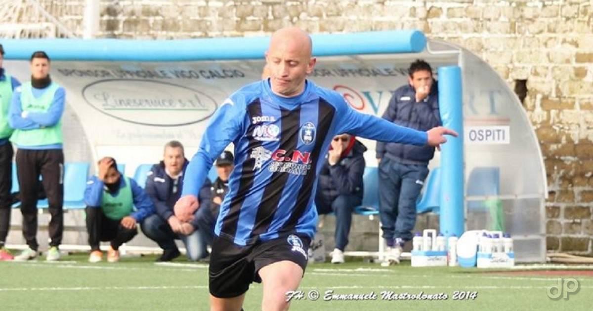 Pietro Zotti con la maglia del Bisceglie