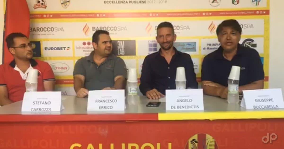 Presentazione Angelo De Benedictis allenatore Gallipoli 2018