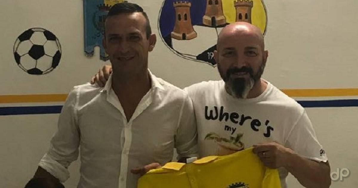Giovanni De Nitto e Vincenzo Pulpito allenatore e diesse dell'Ostuni 2018