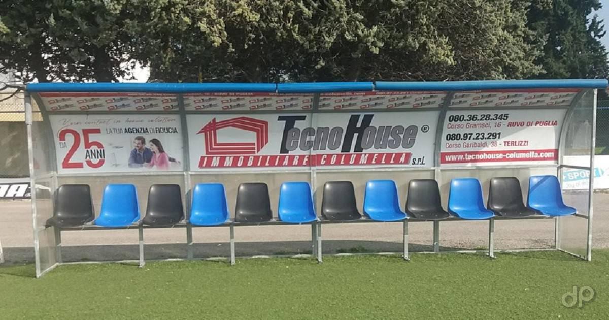 Panchina stadio Ruvo di Puglia 2019