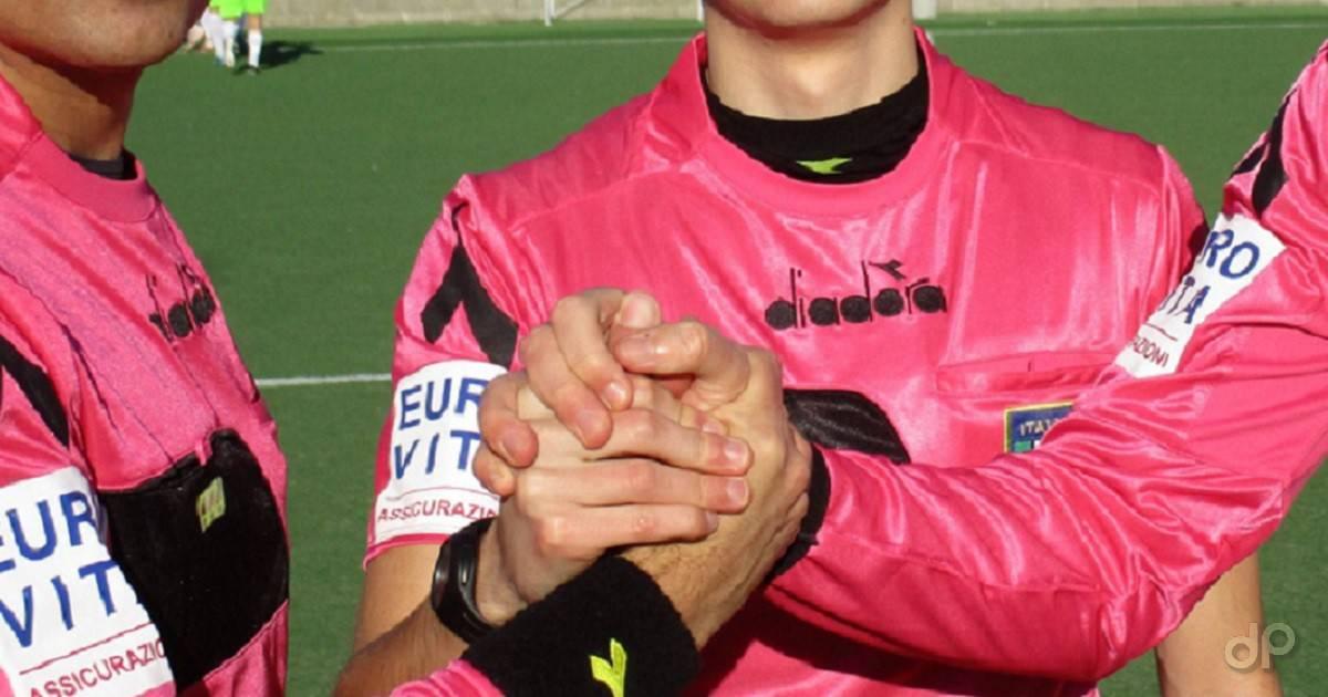 Terna arbitri maglia rosa