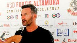 """Fortis Altamura, Lorusso: """"Stagione fantastica, sono soddisfatto e grato a tutti"""""""