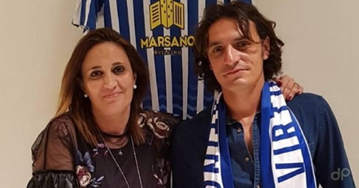 Cristina Costantino e Giuseppe Branà, presidente e allenatore della Virtus Matino 2019