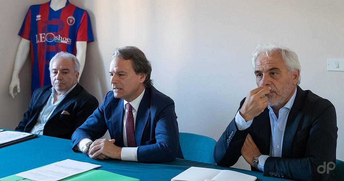 Conferenza stampa Casarano Maci Pitino Pisanò