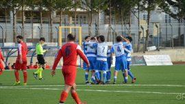 Football Acquaviva-Real San Giovanni, un gol di Trotti e la vittoria è biancoblù