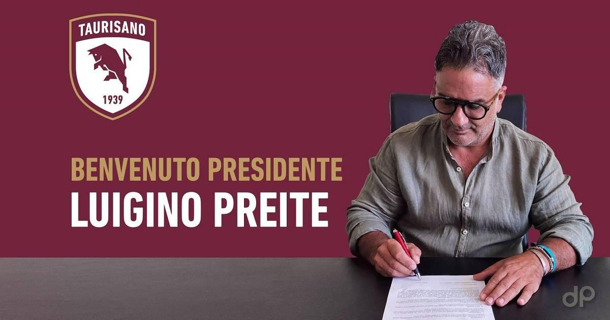 Presentazione Luigino Preite presidente Taurisano 2020